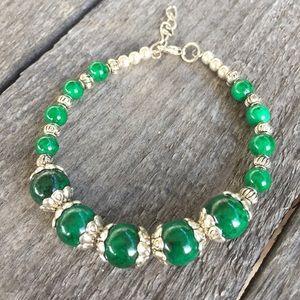 🎉5/$25🎉 Boho Malachite Silver Bracelet